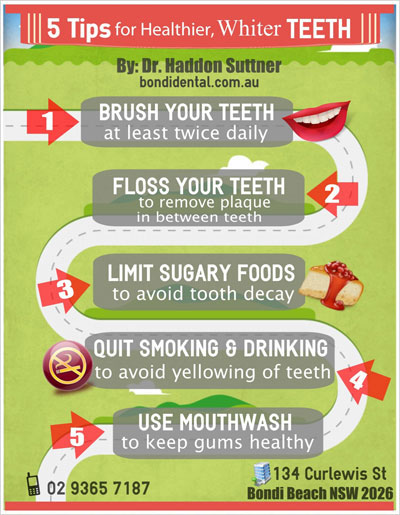 5 Tips For Healthier, Whiter Teeth