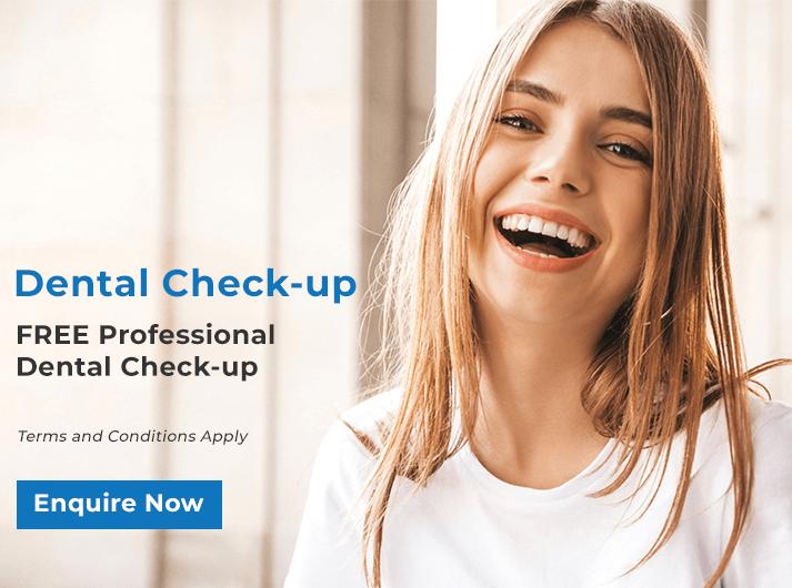 dental checkup promo banner bondi