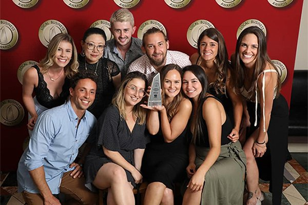 Bond-Dental-Team-Celebrating-for-the-Awards-they-received